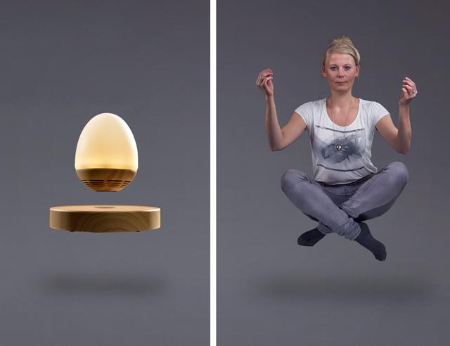 Svävande Högtalare och Lampa No Gravity
